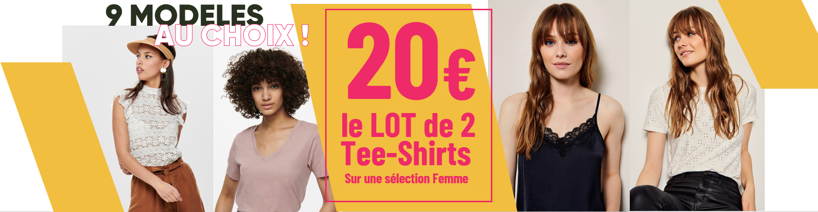 CATALOGUE AVRIL 21 -- 20€ les 2 tee shirts femme